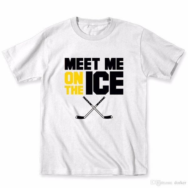 2018 Nieuwste Imprimez T-shirts Nieuwigheid Cliquez sur-shirt Kleding Voldoen dans le match Bâtons de hockey sur sportif Grappige Humour Cool T-shirts personnalisés