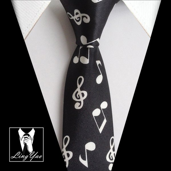 pretty nice ea6e6 99ca3 Großhandel 5cm Fashion Krawatten Schmale Krawatte Mit Musik Notes Unique  Design Polyester Krawatte Von Huteng, $20.65 Auf De.Dhgate.Com | Dhgate