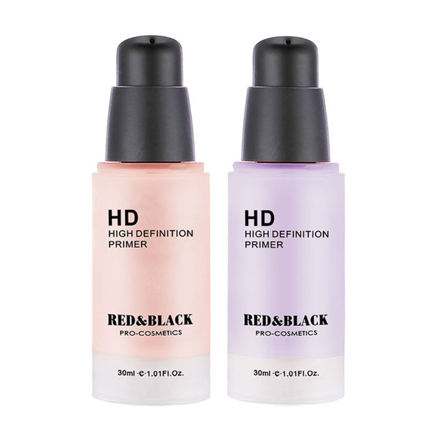 Red&Black face Care Corrector Primers 30ml Easy to Absorb Smooth Makeup Base Facial Cream Moisturizer HD High Definition primer