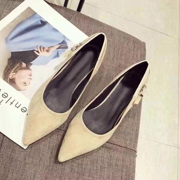 2018 Summer New Shoes, Lady Sandal ,Women Slides Suede High Heels Pointed Toe High Quality Original Package(Dust bag+box) #324D