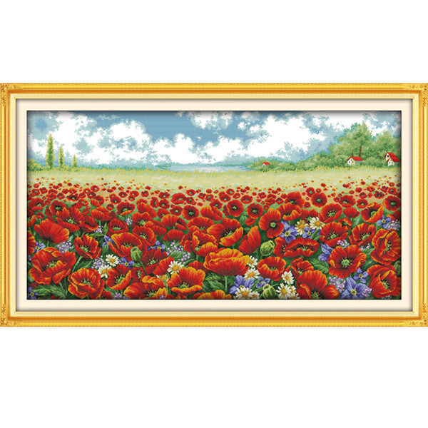 Flowers Colorful Abstract ~ Art Patterns ~ DIY Counted Cross Stitch Pattern