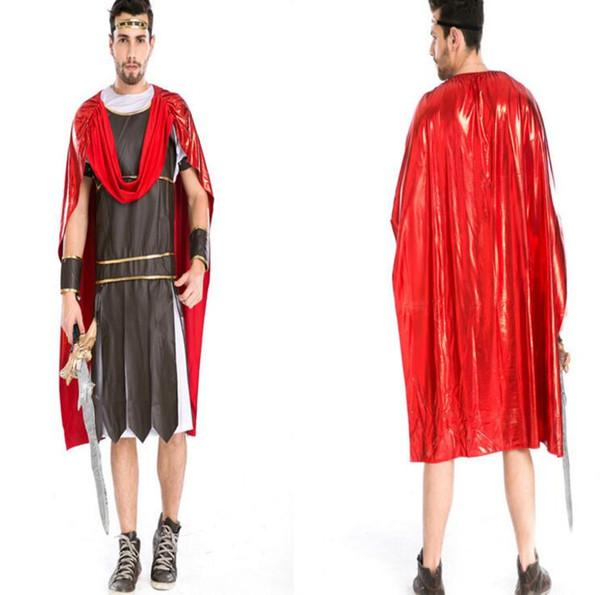 Ancient Roman Warrior Costumes Masquerade Party Men Gladiators Knight Julius Caesar Costume Adult Cosplay Theme