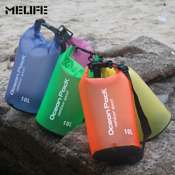MELIFE Swimming Ocean Pack Waterproof bag Outdoor Durable Lightweight Diving floating 2 5 10 15L Storage PVC Dry Bag For Travel