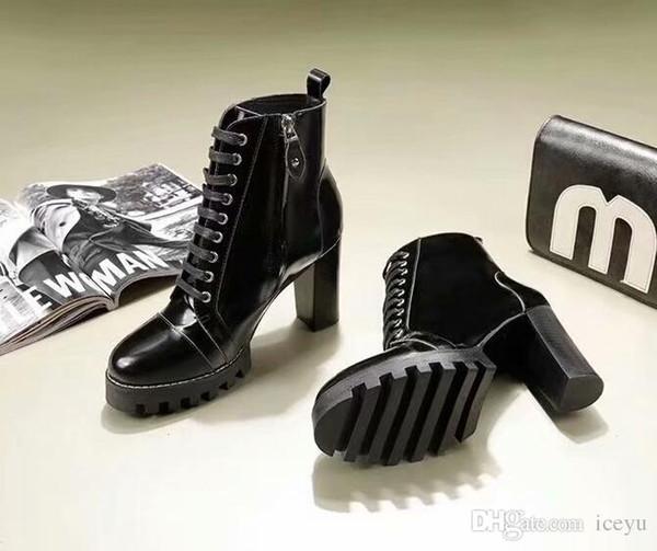 5A Botas de tacón alto, cuentas abiertas en el interior, piel de oveja 6352, botines cortos de moda, clásico y único, zapato de diamante único 34-40 ya DHL Free Shipping