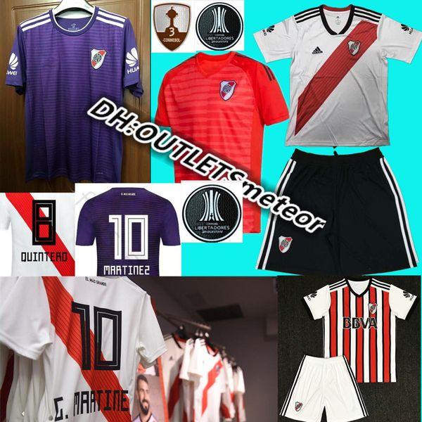 2019 River Plate Home White Soccer Jersey 18 19 River Plate Soccer kit 2018 Personalizado Uniforme de fútbol Venta