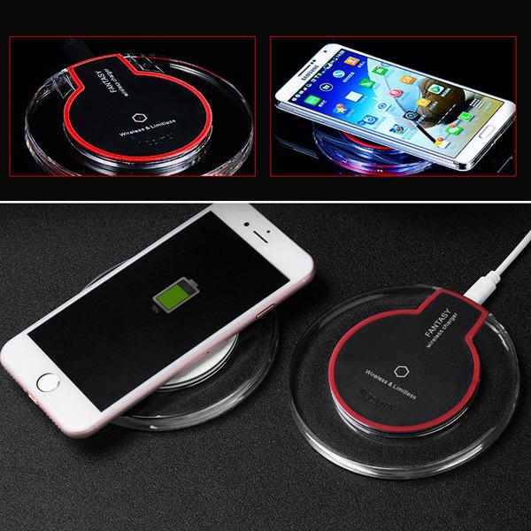top popular Qi Wireless Charger For Iphone X 8 8Plus Fast Charging Pad Mini Ultra-Slim Wireless Charger For Samsung S8 Plus With Retail Package DHL free 2020