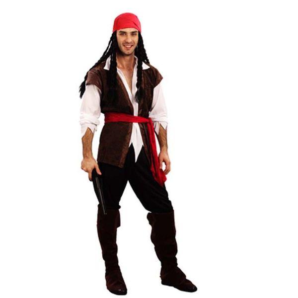 2018 homens homens pardal piratas traje para adultos masquerade trajes cosplay carnaval fancy dress partido suprimentos purim