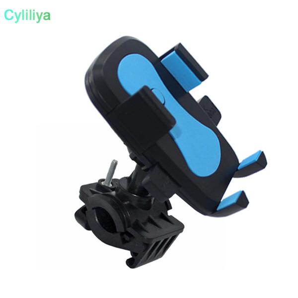 Universal Bike Phone Mount Bicycle Rack Handlebar Cradle Clamp 360 Rotation Anti Shake Stable Motorcycle Holder for iPhone Samsung LG Huawei