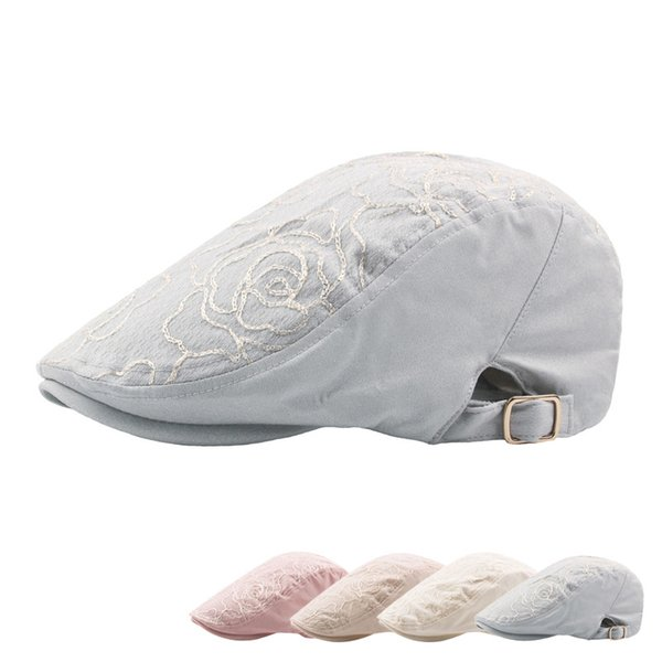 4 Colors Embroidery Floral Cotton Berets Snapbacks Casquette Baseball Cap Designer Hat Dad Hat Bucket Fitted Hat Brand Hats