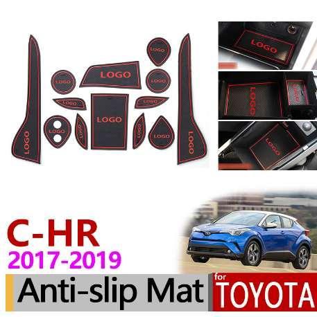 per Toyota CHR 2017 2018 2019 Antiscivolo Gomma Cup Cuscino Porta Scanalatura Mat C-HR C HR Accessori interni Sticker Car Styling