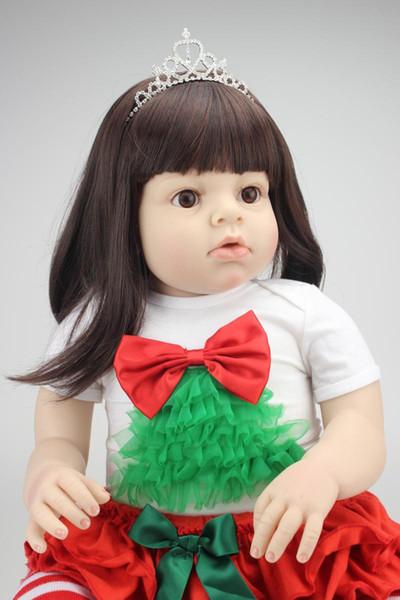 All'ingrosso-2015 NEW hotsale bambola del bambino rinato realistico bambole all'ingrosso moda bambola congelata regalo di Natale bambola vera e propria tocco