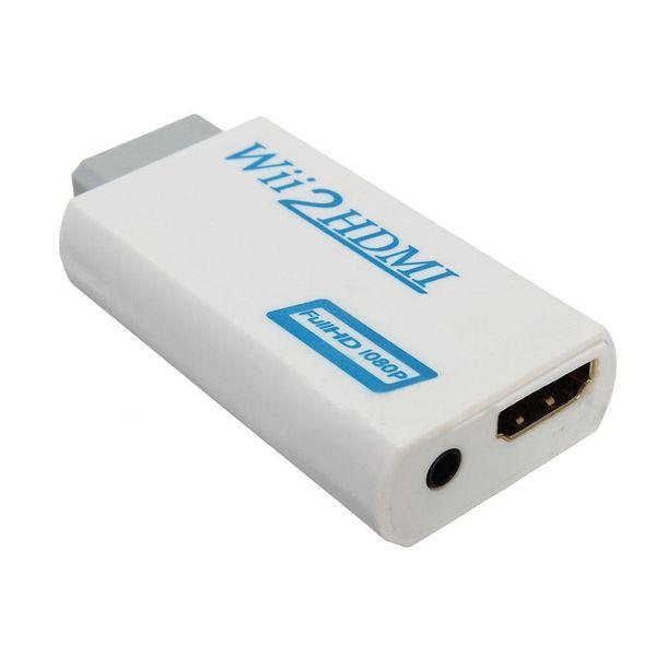 HDMI Wii2HDMI Full HD FHD 1080P конвертер адаптер 3,5 мм аудио выход Джек