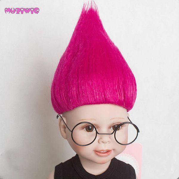 MUZIWIG синтетические Тролль парики волос для 18 дюймов американская девушка кукла парики аксессуары