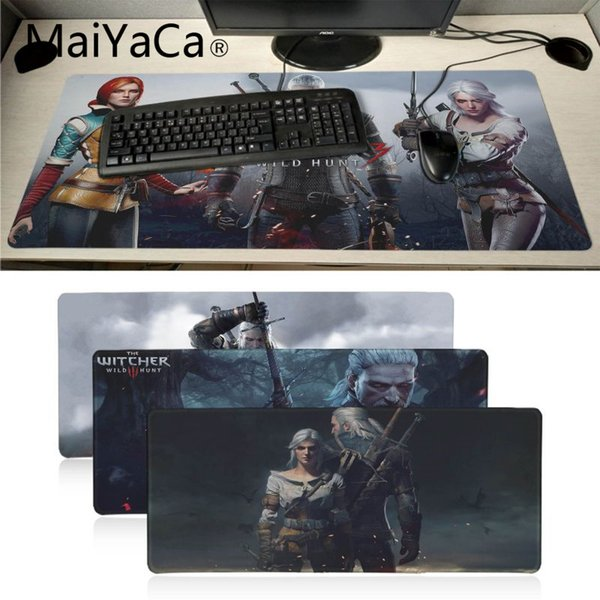 MaiYaCa The Witcher 3 Wild Hunt mouse pad gamer play mats BIG SIZE Rubber Game Mouse Pad for Dota2 Game Player