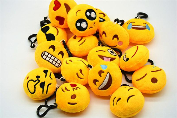 best selling facial expression keychains cute Emoticon Amusing Key Chain Plush toys keychain for unisex gift