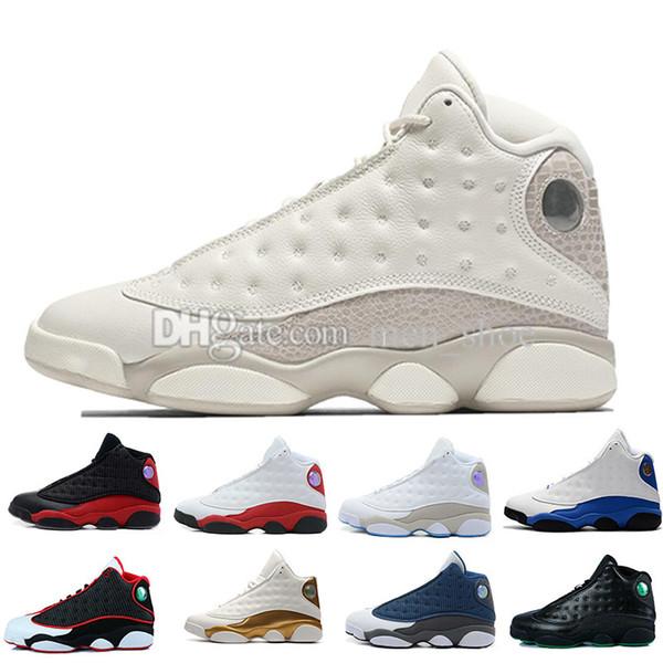 13 13-х годов баскетбольная обувь Phantom Hyper Royal Italy Blue Bordeaux Flints Chicago Bred DMP Wheat Olive Ivory Черный кот Мужчины Размер 5.5-13