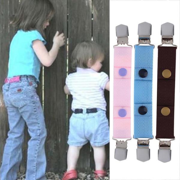 High quality Comfortable Children Kids Jeans Pants Canvas Adjustable Belt Elasticated Buckle Clip Belts