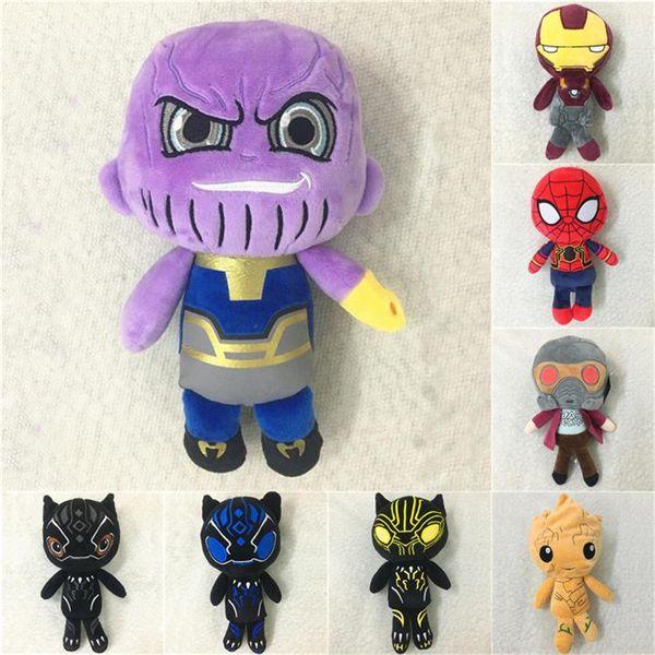 Marvel Avengers Infinity Savaşı Süper Kahraman Aksiyon Figürleri Oyuncaklar 20 cm Anime Peluş Oyuncaklar Thanos groot Peluş Dolması Bebekler çocuk oyuncakları