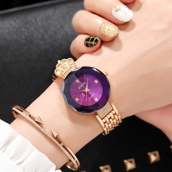 zivok Brand Luxury Women Bracelet Watches Rose Gold Fashion Quartz Wrist Watch Clock Women Relogio Feminino Girls Lovers WatchY1883101