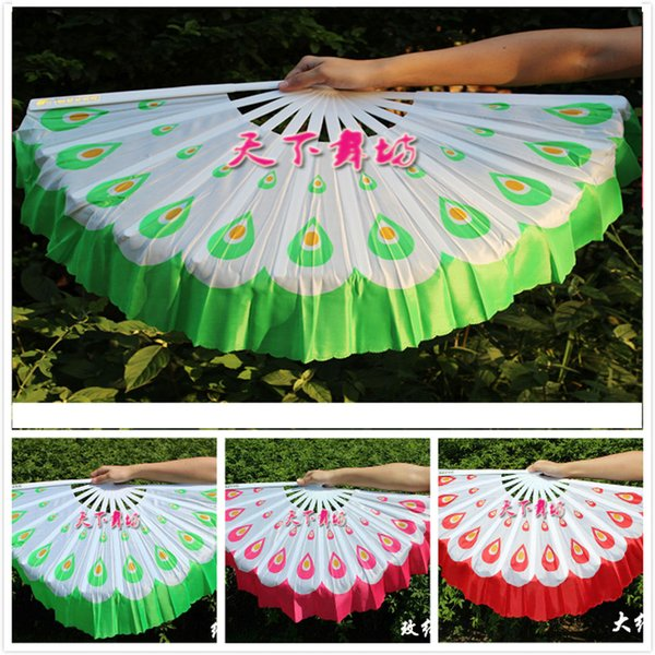 Nuovi ventilatori Peacock di danza del ventre in poliestere Velo piacevole performance sul palco sul palco