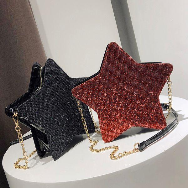 2018 New Arrival Sequins Women Bags Fashion Small Star Shape Bag Women Shoulder Bag Casual Crossbody Packet Bolsa Feminina