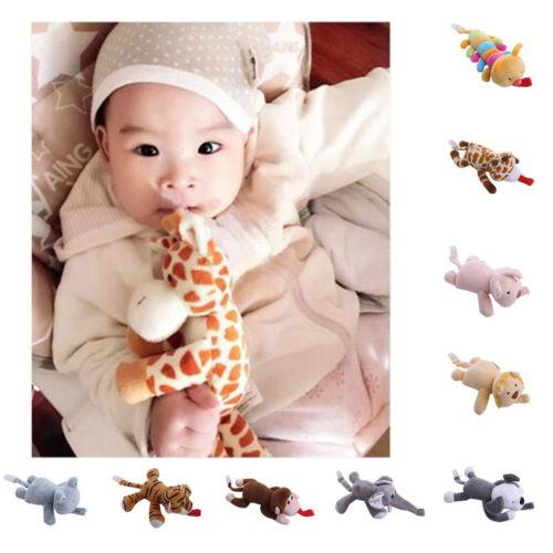 Hot Baby Boy Girl Cute Dummy Pacifier Chain Clip Plush Animal Toys Soother Nipples Holder Free Shipping