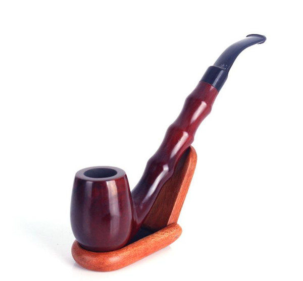 Hot selling mahogany, handmade sluice pipe, old hammer, red sandalwood, dry tobacco pole, retro pipe.