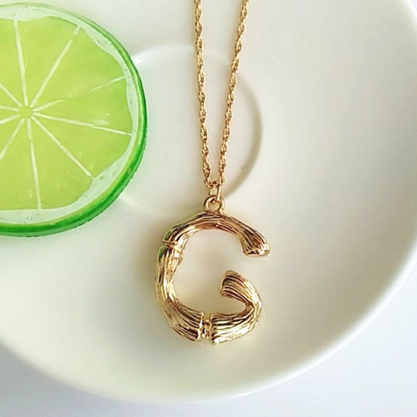 Simple Fashion Gold Chain English Letter Necklace A B C D E F G H I J K L M N O P Q R S T U V W X Y Z Pendant Choker Necklaces