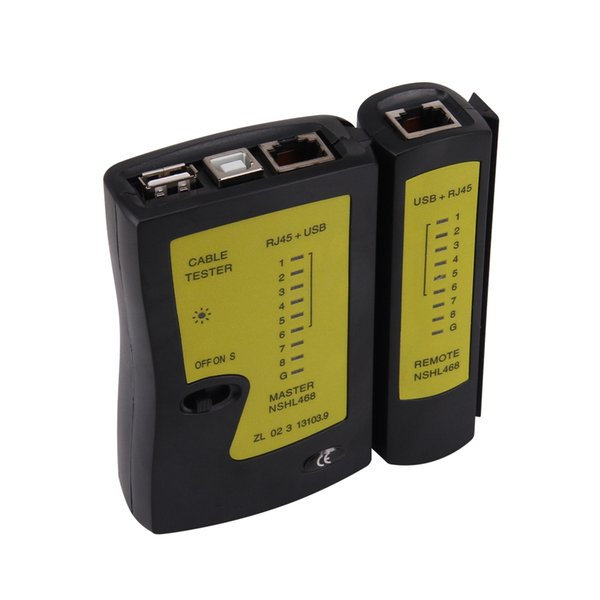 Precise Network Lan Cable Tester with USB + RJ-45 Ideal for IT enthusiasts who wish to make their own network cables
