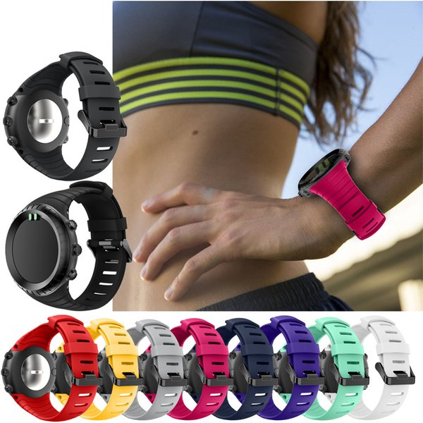 best selling Wholesale- New Fashion Watch 2017 Replacement Sports Silicone Bracelet Strap Band For Suunto Core Watch Watchband watch accessories