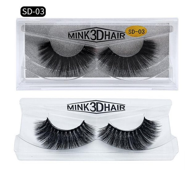 top popular Ship in 24hours 3D MINK Eyelashes 20 Styles Selling Real Siberian 3D Full Strip False Eyelash Long Individual Mink 1lot=1set=1pair=2pcs 2020