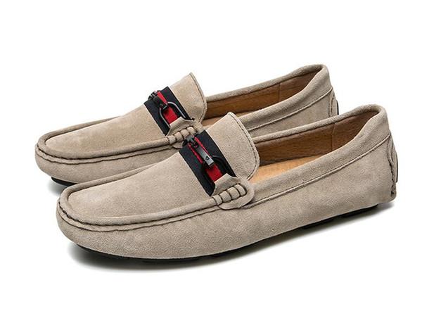 Men leisure dress shoe part gift doug shoes Metal Buckle Slip-on Famous man lazy falts Loafers Zapatos Hombre dh2a13