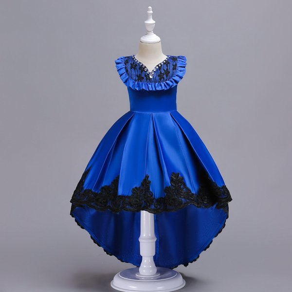 High quality children girl diamond evening dresses clothing girls party Prom dress cotton princess ball gown for baby girl dance party ball