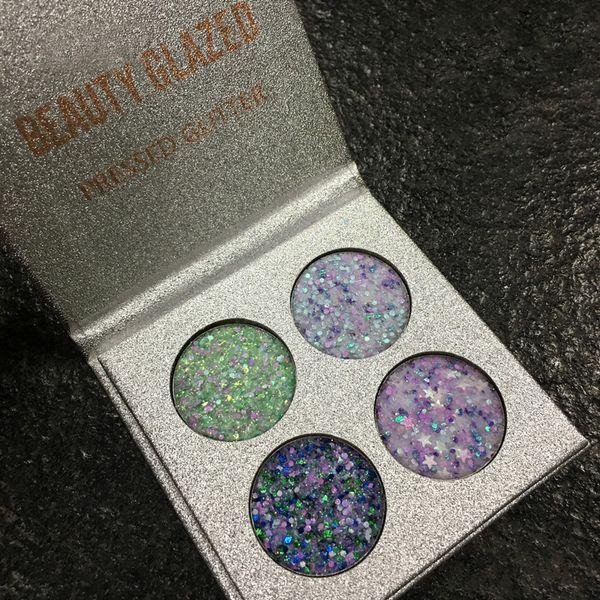 Beauté Glazed Pro Glitter Fard À Paupières Palette Shimmer Ombre À Paupières Poudre Pigments Nude Métallique Sparkling Maquillage Beauté Cosmétiques