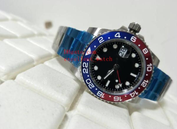 Новая мода роскошные часы 40 мм 116719-BLRO 116710blnr керамический безель черный циферблат Азия 2813 автоматические механические из нержавеющей стали мужские Ват