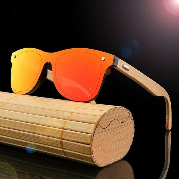 Polarisierte Holz Sonnenbrille Männer Frauen Platz Bambus Sonnenbrille Frauen Marke Designer Original Holz Gläser Oculos de sol masculino