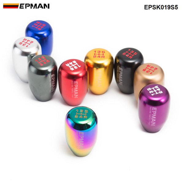 top popular EPMAN Sport Universal Racing 5 Speed car Gear Shift Knob Manual Automatic Gear Shift Knob shift lever EPSK019S5 2021