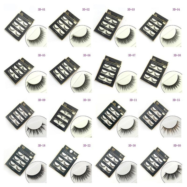 best selling 3D false eyelashes 16 Styles Handmade Thick Long Soft lashes Fake Eye Lashes Eyelash