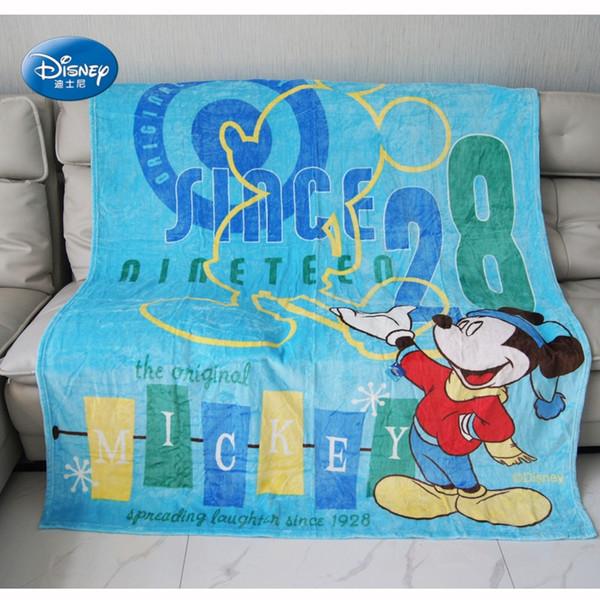 Cartoon Teal Blue Coral Fleece Blanket BedSheet 180x200cm Boys Christmas Gift Flatsheet 1.2m Bed