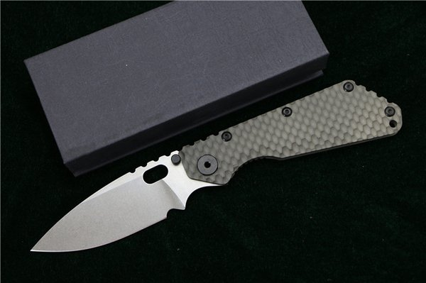 LOVOCOO SMF Folding Knife D2 blade Titanium Nudist/Pits handle Copper washer kitchen outdoors hunting utility Knives EDC Tools