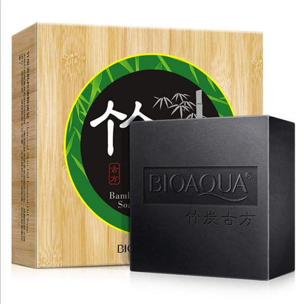 Free Shipping Bamboo Charcoal Essential Oil Soap Oil Control Moisture Beautiful Clean Skin Pore Contraction Fouling Toilet Handmade Soap