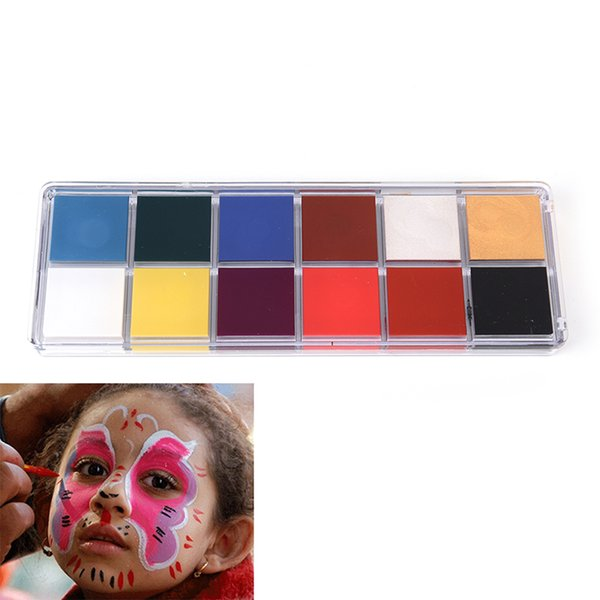 12 Colors Halloween Face Body Paint Oil Professional DIY Painting Oil Art Make Up Use In Face Or Body Makeup Paint Palette