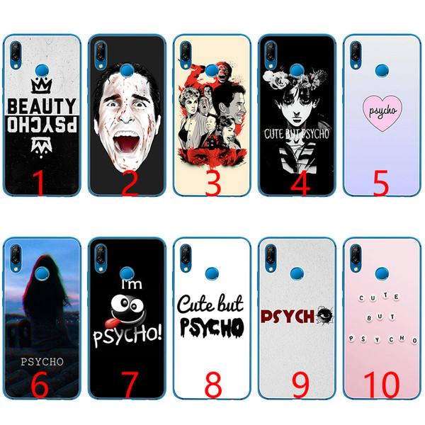 Psycho silicone macio tpu phone case para huawei honor 7a pro 6a 7x 8 lite 9 lite 10 capa