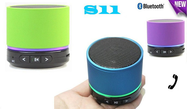 S11 Wireless Mini Bluetooth Speaker HiFi Music Player with MIC For iPhone 5 MP4 MP3 Tablet PC Free shipping 40pcs/lot