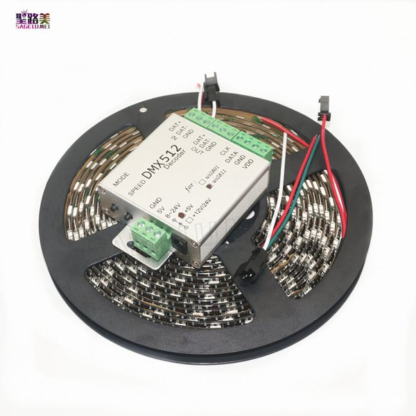 check out aa857 ab690 5m/Roll DC5V WS2812B Waterproof IP65 60leds Individually Addressable  5050SMD RGB LED Digital Strip & DMX 512 Controller Waterproof Led Strips  Led ...