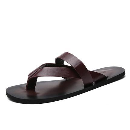 2018 summer explosion models fashion drag male tide drag personality Korean leisure sandals Roman sandals non-slip beach slippers