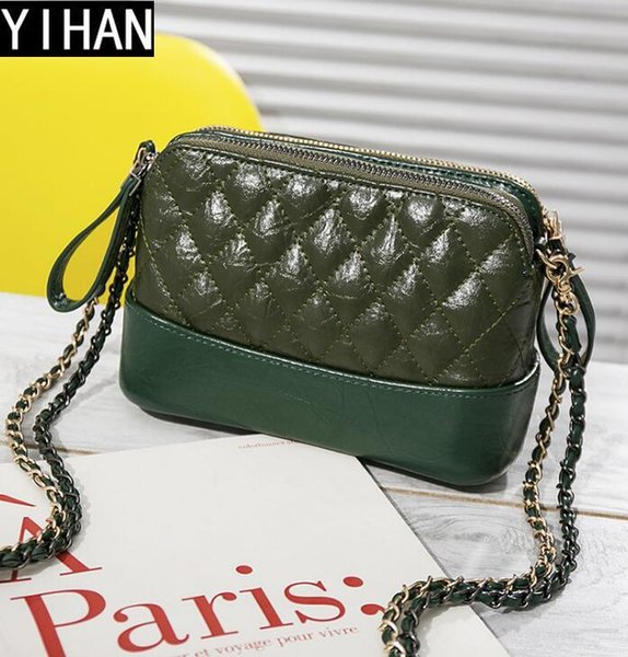 Factory independent brand handbags hit color small incense wind bag fashion leather chain bag cute Lingge leather Messenger shoulder bag