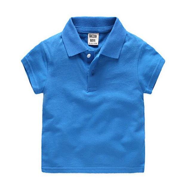Crianças Moda Meninos Camisas Polo Para Crianças Roupas de Verão Crianças Cor Sólida Algodão de Manga Curta Meninos Meninas Pólo Camisa Pano