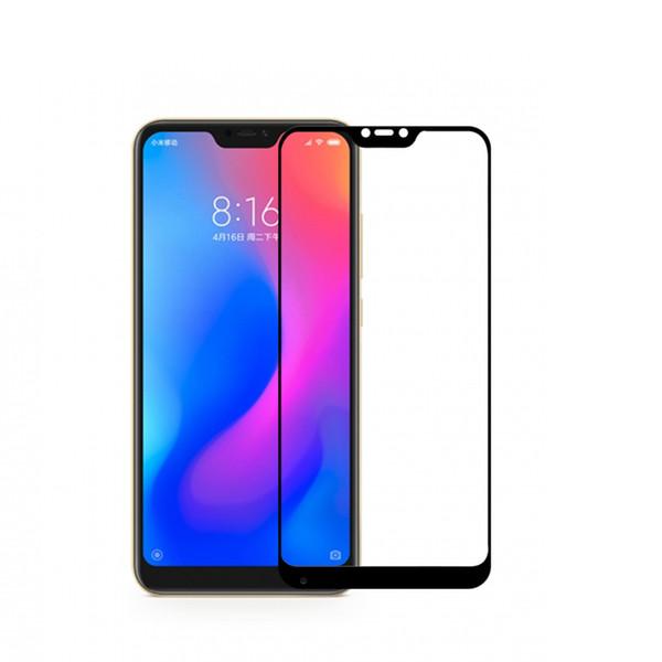 5pz/lotto For Xiaomi Redmi 6 Pro / Xiaomi Mi A2 Lite 2.5D Bubble-Free Curved 9H Hardness Screen Protector Tempered Glass Filmss