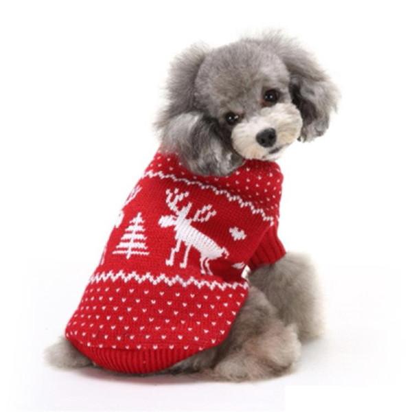 Roupas para cães de estimação Roupas de festa de natal do floco de neve Outerwears casaco camisola roupas de malha filhote de cachorro gato de estimação trajes